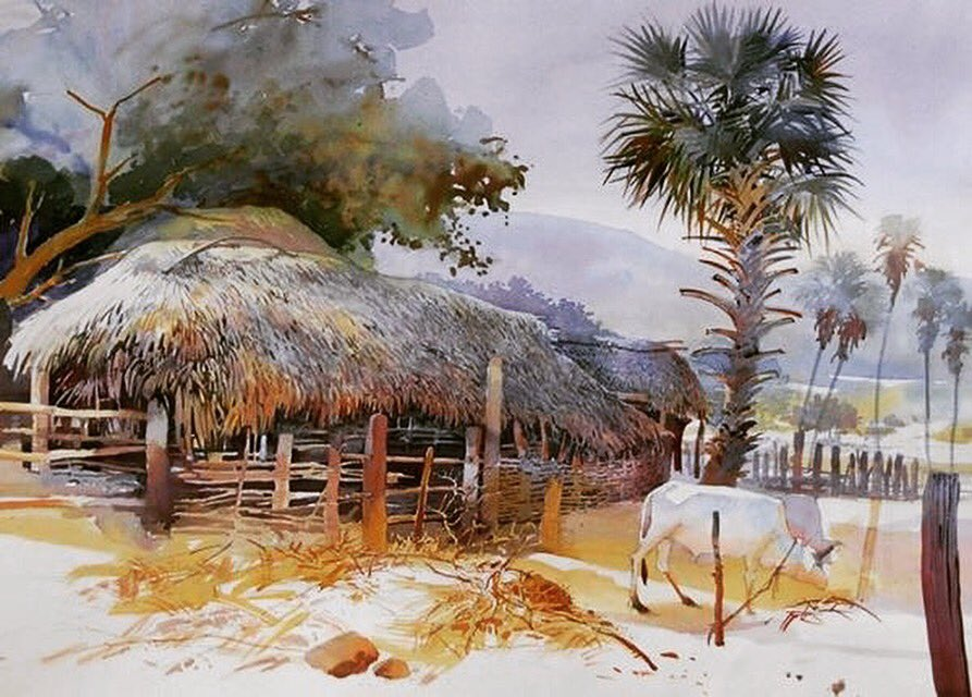 village Talcher, odisha, #watercolour winner of 1st jury award, Istanbul Watercolor Society. 2013.#art #Odisha #paintings #village <br>http://pic.twitter.com/EsnAXppaH0