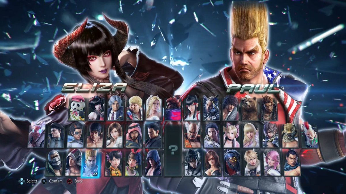 Wonkey On Twitter Screenshot Of The Console Tekken 7 Character Select Screen Including The Pre Order Dlc Character Eliza