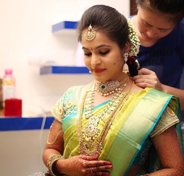 Bridal Front Hairstyle For South Indian Wedding Wedding Galery