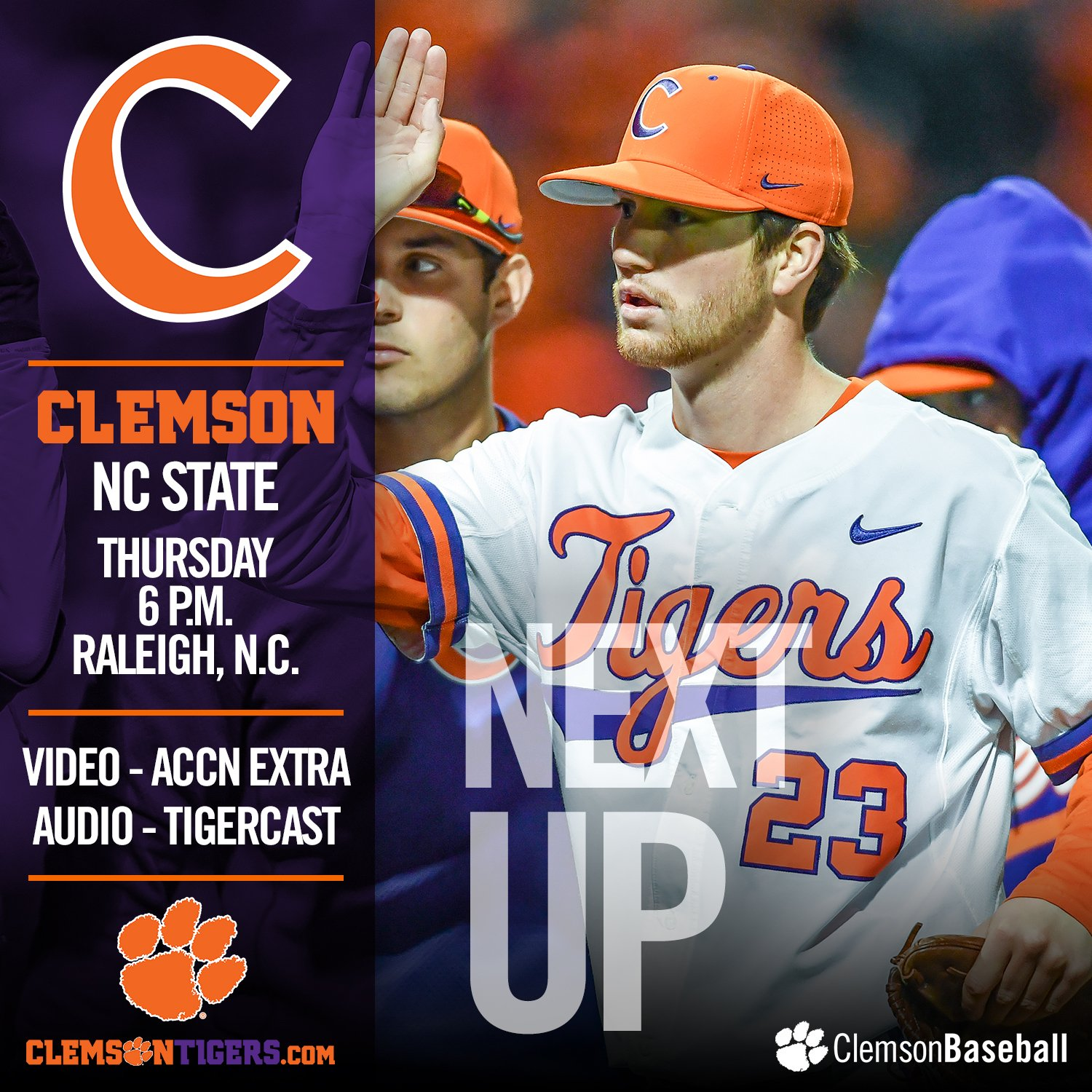 #Clemson plays on a Thursday for the first time in 2017 when it faces NC State.  GAMEDAY - https://t.co/8R69BpgB7Y https://t.co/BoKhl5s3h1