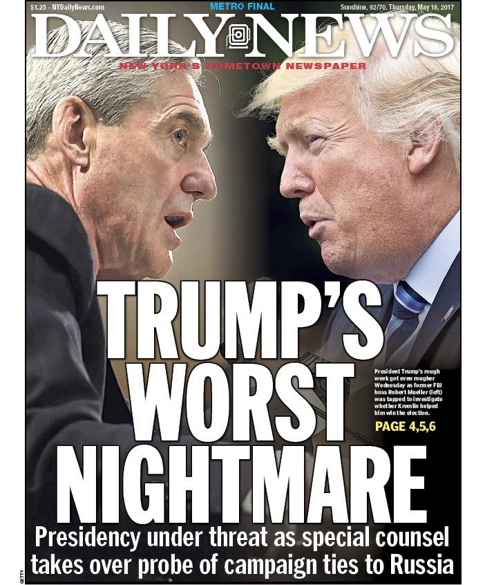 Image result for mueller trump's worst nightmare daily news