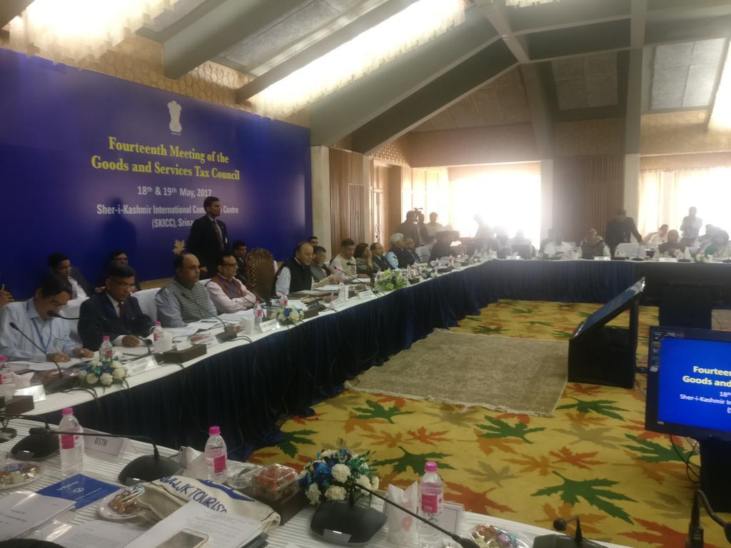 J&K: 14th GST Council meet begins at Sher-i-Kashmir International Conference Centre, in Srinagar