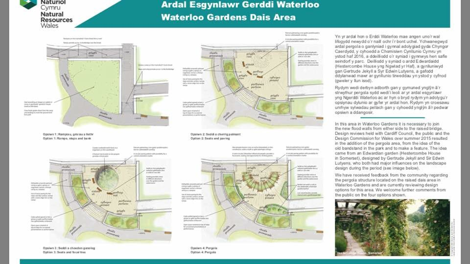 """Waterloo Gardens on Twitter: """"Alternative ideas and existing plan for the dias area that were displayed at the drop in session last month via @JamesCording ..."""