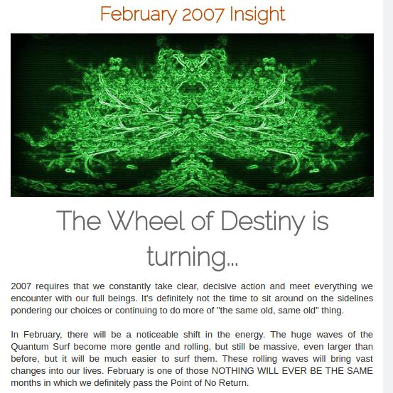 #Spiritual888 - 200602 #Insight The #Wheel of #Destiny... 2007 requires that we take clear, #decisive #action Visit:  https:// spiritual888.jimdo.com/insight/2007/  &nbsp;  <br>http://pic.twitter.com/ehSKwTh5VX