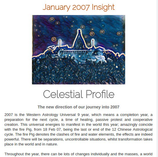 #Spiritual888 - 200601 #Insight #Celestial #Profile The new #direction of our #journey into 2007  Visit:  https:// spiritual888.jimdo.com/insight/2007/  &nbsp;   #Astrology<br>http://pic.twitter.com/ovqfCKkInG