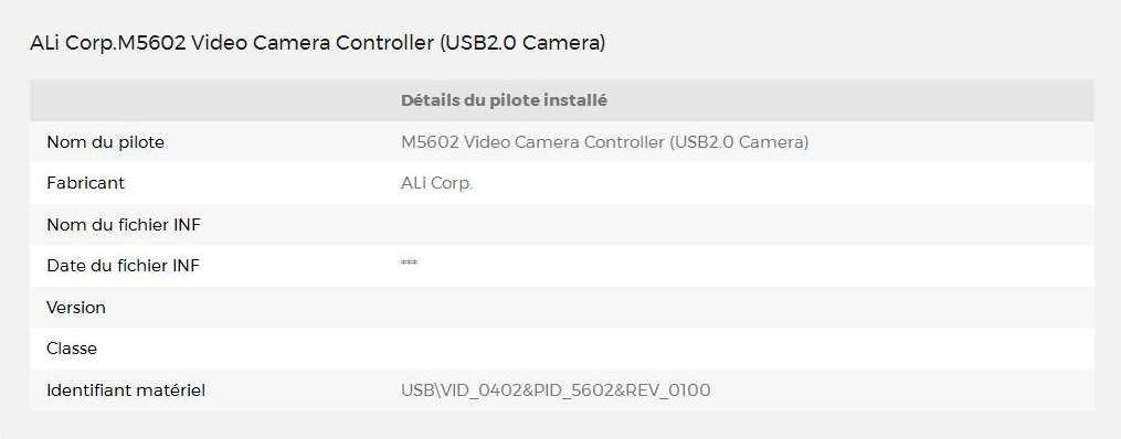 ALI M5602 VIDEO CAMERA CONTROLLER WINDOWS VISTA DRIVER DOWNLOAD