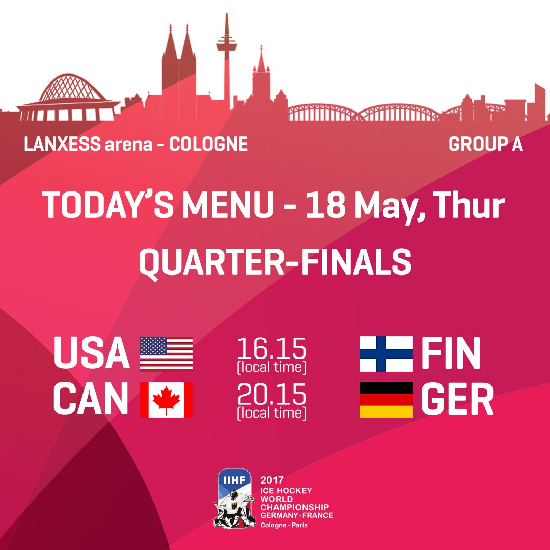 Image result for IIHF World Championship 2017 Quarterfinal live pic logo
