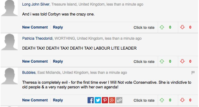 Daily Mail readers losing it over the Tory social care pledges are something else (via @stephenmossgdn)