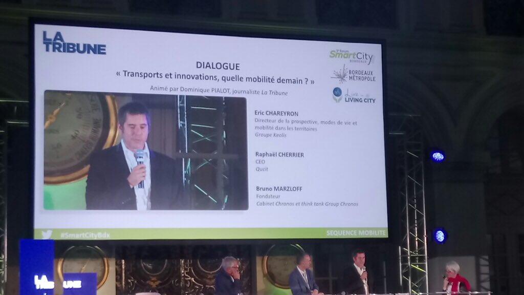 Transports et innovations, quelle mobilité demain? @qucit au Forum #SmartCityBdx de la @LaTribuneBdx #HappyCity #mobilité @SmartCityZen