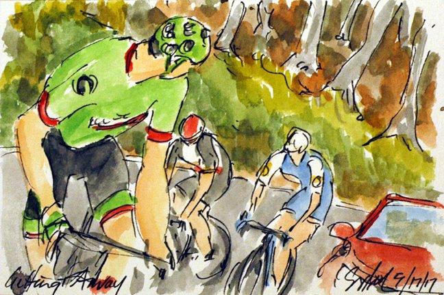 @Ride_Argyle @pierrerolland counters the attacks, more #Giro100 #cyclisme #art @  http:// theartofcycling.blogspot.com  &nbsp;   &amp; #book @  http:// kck.st/2pd3lfT  &nbsp;  <br>http://pic.twitter.com/955JyB7wxG