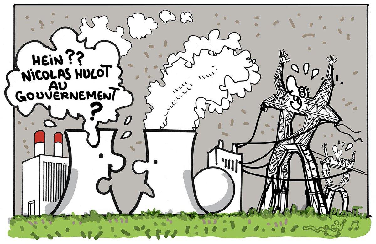 NICOLAS HULOT AU GOUVERNEMENT. Le dessin du Monde de ce jeudi 18 mai.