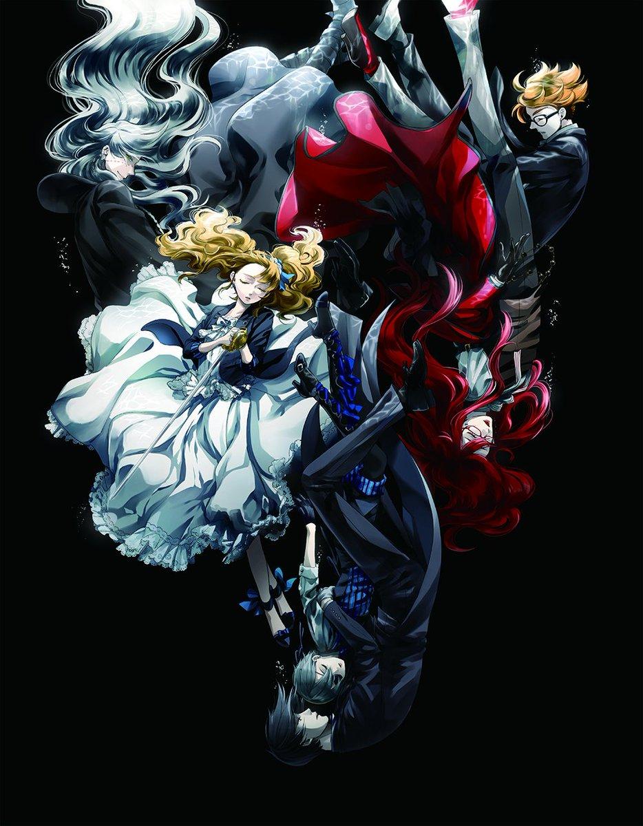 8/23発売の劇場版「黒執事 Book of the Atlantic」BD&DVDの、枢やな先生描き下ろし三方背ケースのイラストを公開しました!暗い水底へと静かに沈んでいく彼ら…。美しいです…。 kuroshitsuji-movie.com #黒執事