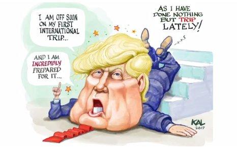 Image result for trump saudi visit cartoons