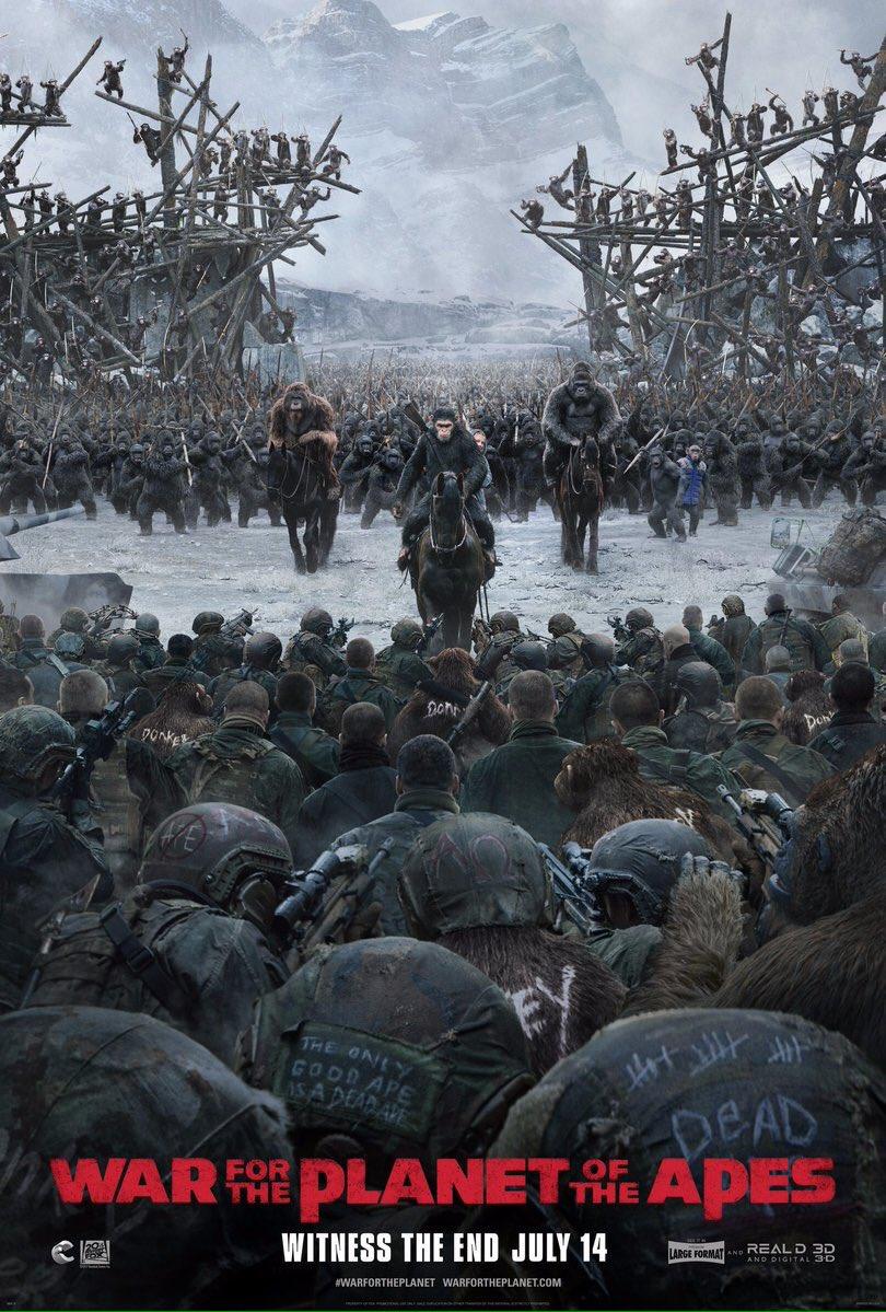 \'La Guerra del Planeta de los Simios\' Nuevo póster,preparados para la batalla
