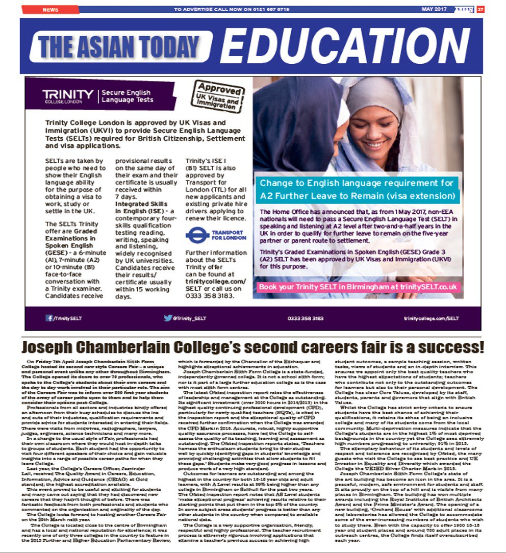 JC College On Twitter The Asian Today Newspaper Is Currently
