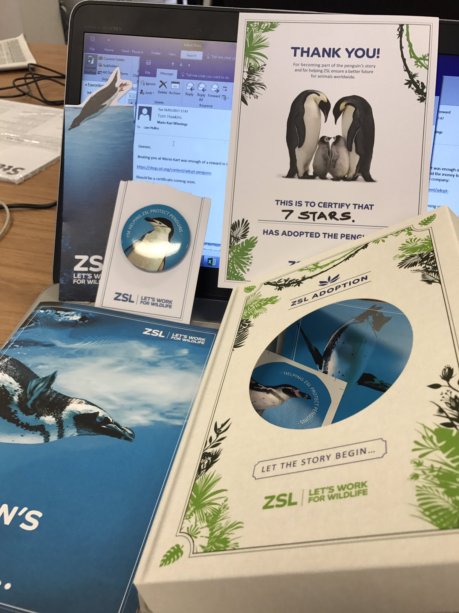 Thanks Tom Hawkins for our @zsllondonzoo penguin sponsorship. A trip to the zoo may be on the cards 😁 https://t.co/vG8TcJtBjq