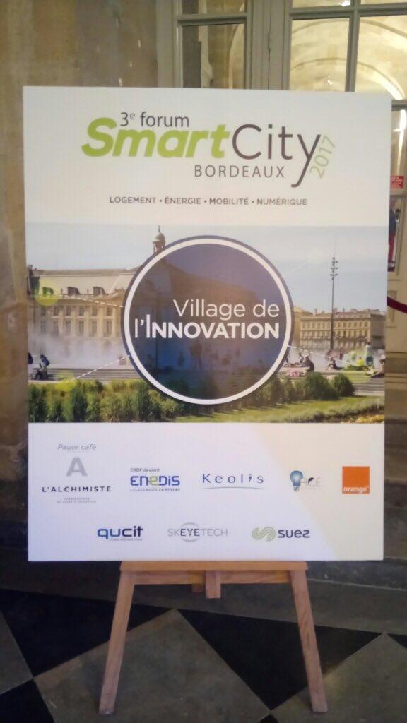 4 #startup de @Bdx_Technowest : @skeyetech, @qucit, @ParkingFacile et @iQSpot au Village Innovation du Forum #SmartCityBdx de @LaTribuneBdx