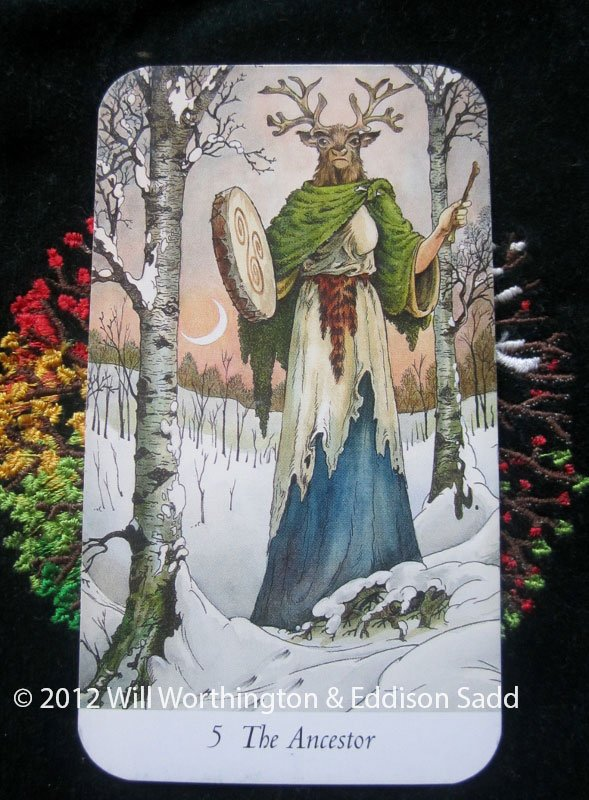 Today&#39;s #WildwoodTarot card is The #Ancestor, There is a path before you, listen to the beat of the family drum that beats in your chest. <br>http://pic.twitter.com/XTHyU2oYOa