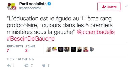 Cambadélis a raison : ce qui compte ce n'est pas l'action du Ministre. Ce qui compte VRAIMENT c'est la place sur la photo. #Fatigué