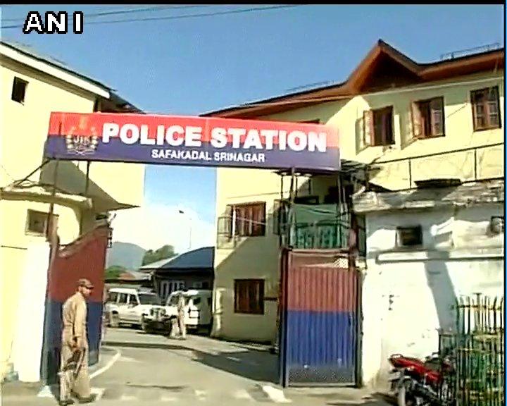 Visuals from J&K: Grenade lobbed at a police station by militants in Srinagar's Safa Kadal