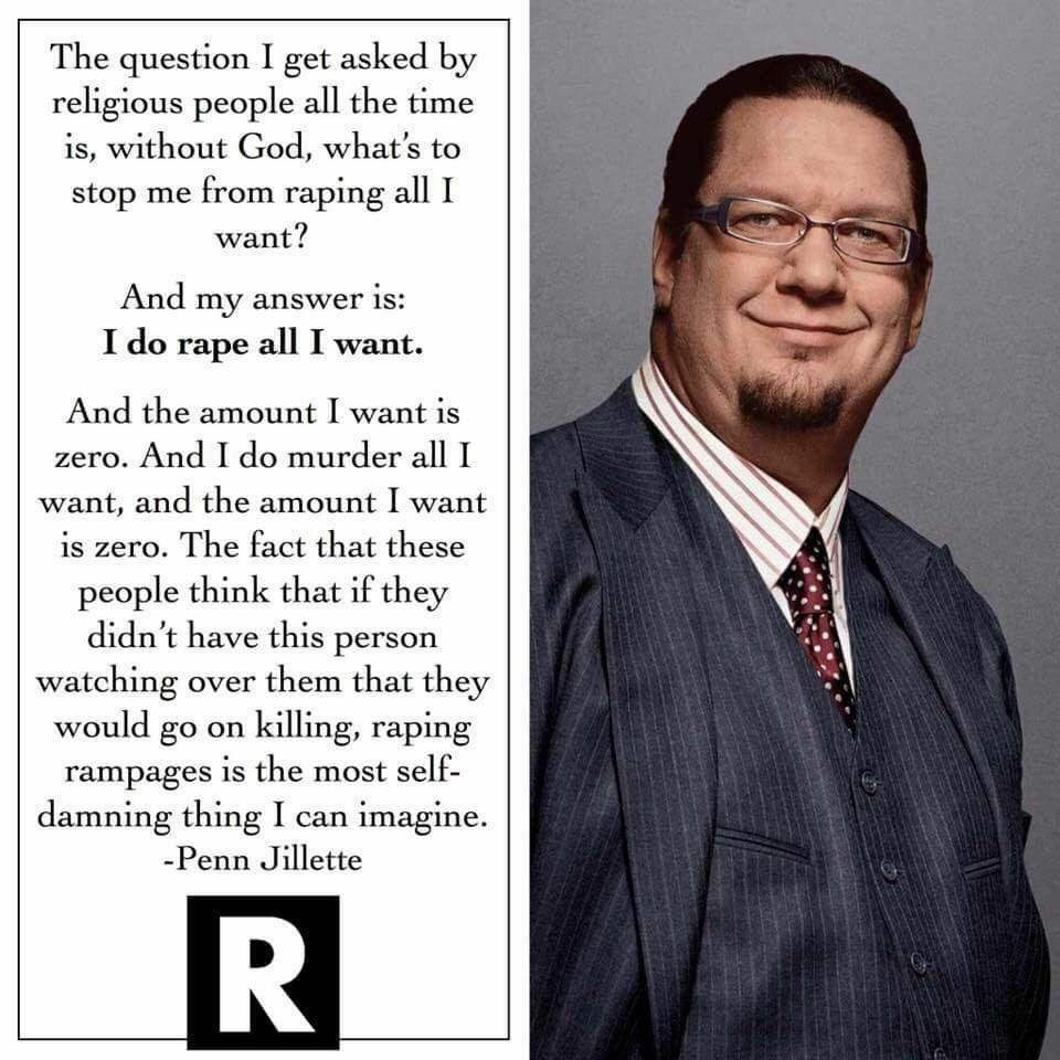 """""""I do rape all I want. And the amount I want to is zero."""" https://t.co/WvcC9Dzmtt"""