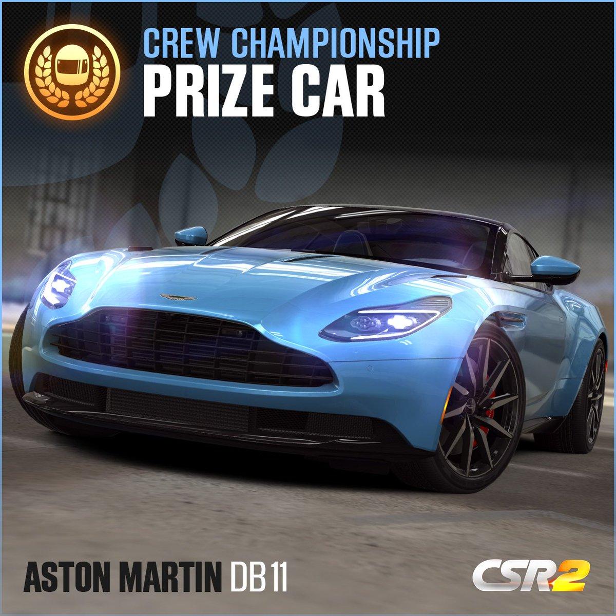 Csr Racing On Twitter Win The Unique Aston Martin Db11 In The New Crew Championship Csr2