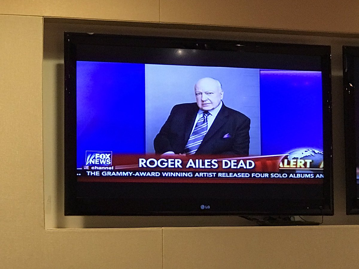 On Roger Ailes passing...Fox News just ran the obit The man changed the landscape of cable news https://t.co/Qh7hUfqWhy