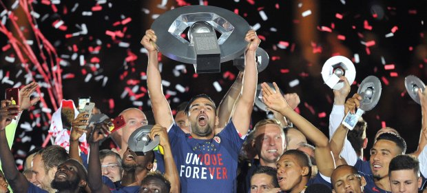Congratulations to #Monaco. The exciting #French #Ligue1 team lifted the league trophy on Wednesday night after beating #ASSE, 2-0. #soccer<br>http://pic.twitter.com/O2cpOA25gr