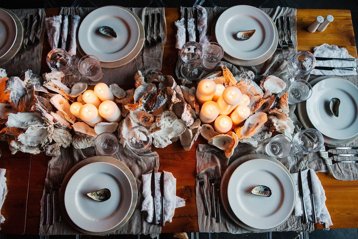 Junebug weddings on twitter how dreamy is this seaside inspired junebug weddings on twitter how dreamy is this seaside inspired table decor see more in todays rugged beach wedding from ryanflynn junglespirit Images