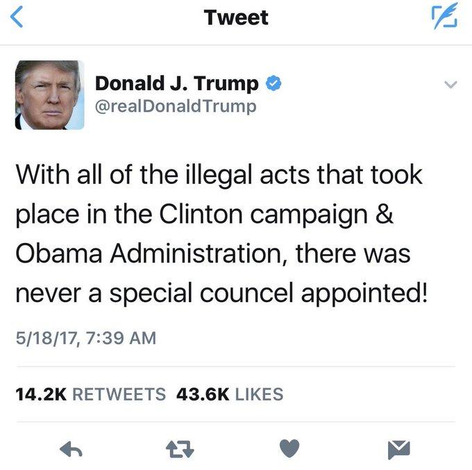 Since @realDonaldTrump has hidden/deleted the original misspelled version (in violation of the presidential records act) here it is, saved.