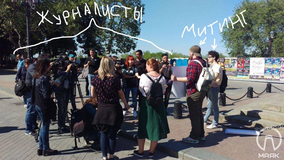"""""""Сначала VK, затем PornHub"""", - в Одессе на акцию против блокировки российских сайтов вышло два человека - Цензор.НЕТ 8240"""
