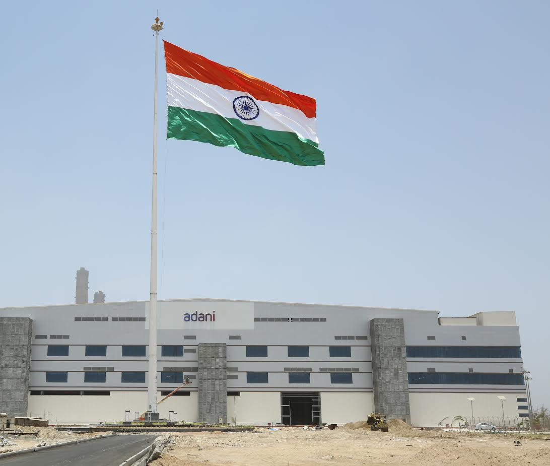 Gujarat's tallest and largest tricolour hoisted at Adani group's factory at Mundra
