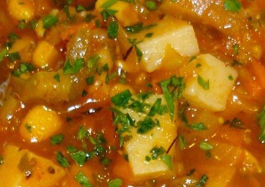 Creole Vegetable Beef Soup