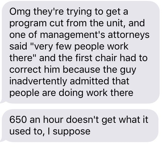 update from a fellow worker at the #UChearing. UofC spending that 💰for nothing #yesGSU #WeAreWorkers https://t.co/u2AFxvl7R1