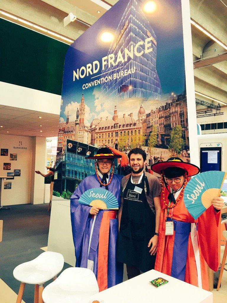#seoul is visiting northern france booth ! @NordFranceCVB  @EchappeeBiere #BizinFrance #IMEX17 #hautsdefrance <br>http://pic.twitter.com/5yIo2j1PSa