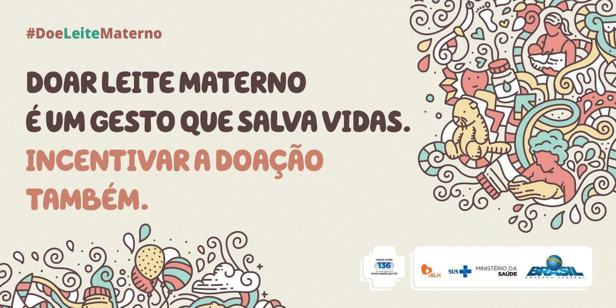 Conhece alguma mulher que está amamentando? Incentive a doação de leite materno. Saiba mais em https://t.co/C3B4vRNw96