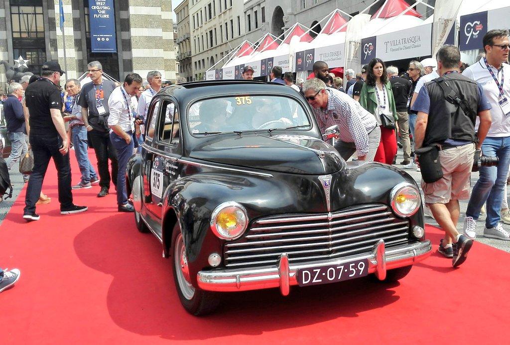 At #Millemiglia2017 a gorgeous 1955 @Peugeot 203.  #Peugeot #MilleMiglia<br>http://pic.twitter.com/4jPjGrEynE