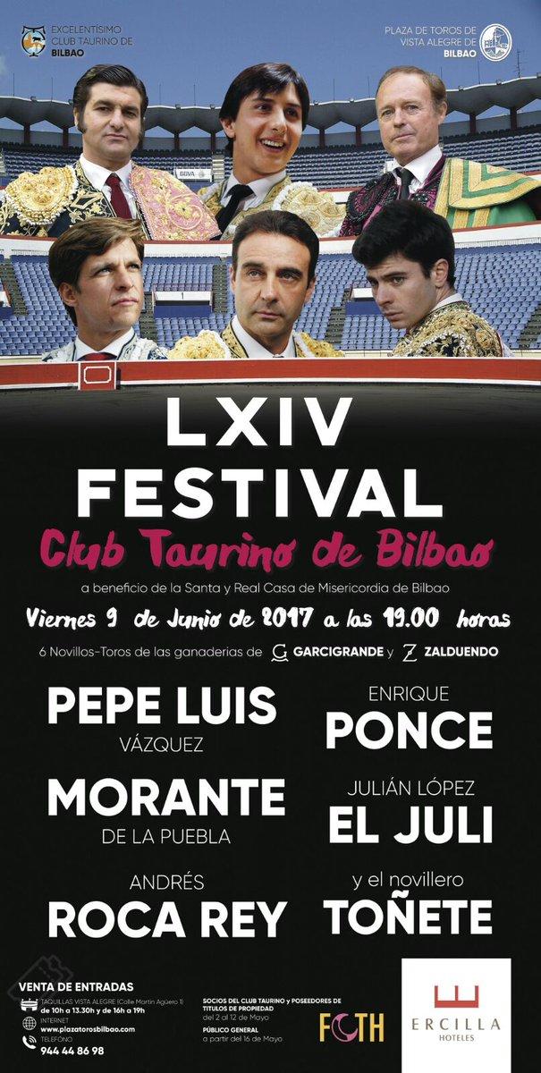 Resultado de imagen de cartel festival taurino club cocherito de bilbao