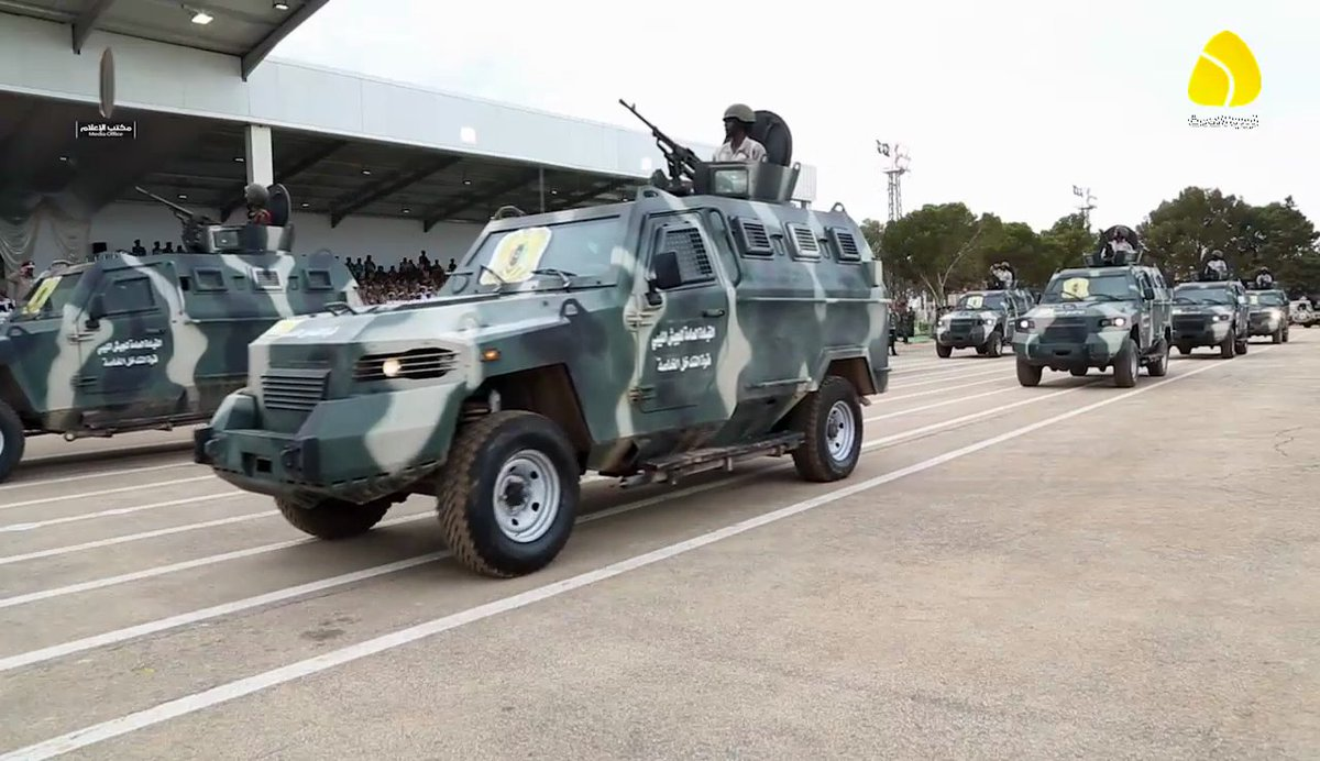 Streit/KrAZ Cougar light armored vehicles seen in Libyan National Army (LNA) parade yesterday