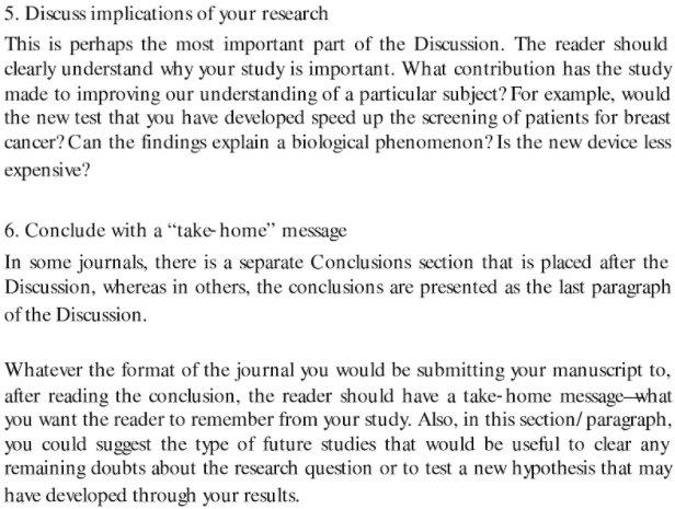 Writing the 'discussion and analysis'.