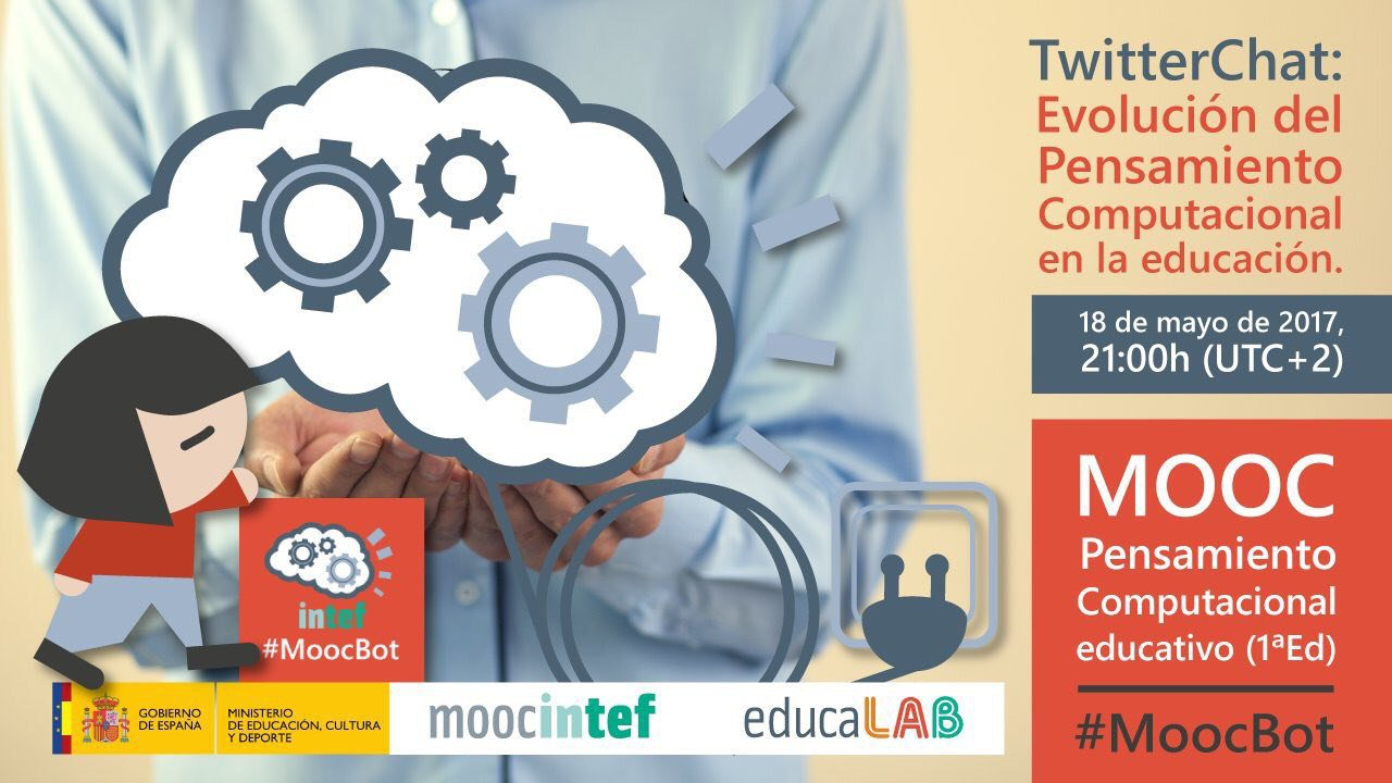 Faltan pocas horas para que comience el Twitter Chat de #MoocBot ¡Te esperamos! +Info:  https://t.co/3xx3ijKYt7 https://t.co/49yVEwM7Pm