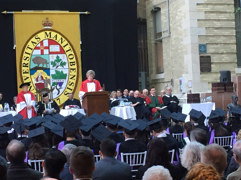 LG Filmon: Her Excellency finds ways she can make a difference & enc others to do so as well.#umanitoba2017 https://t.co/D2u7Pd8rHq