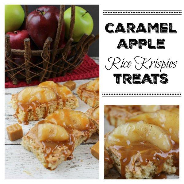 Gluten Free Caramel Apple Rice Krispies Treats
