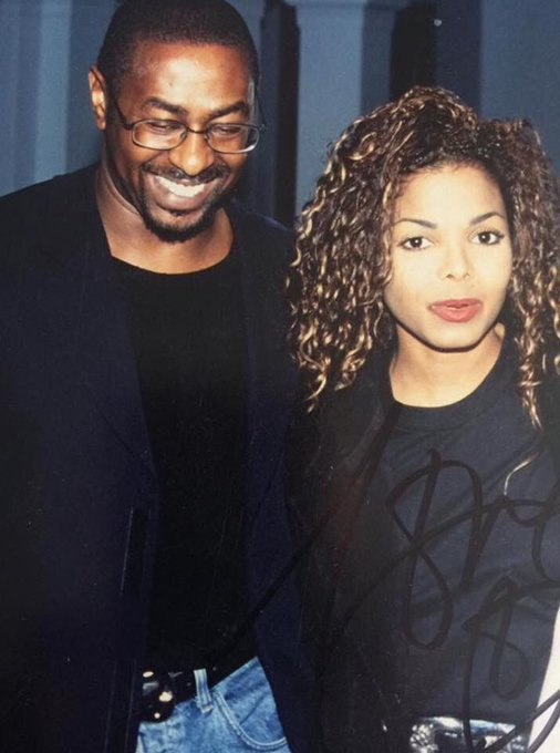Happy belated Birthday, Janet Jackson! Steve and Janet from 1995 Oslo Norway tour!