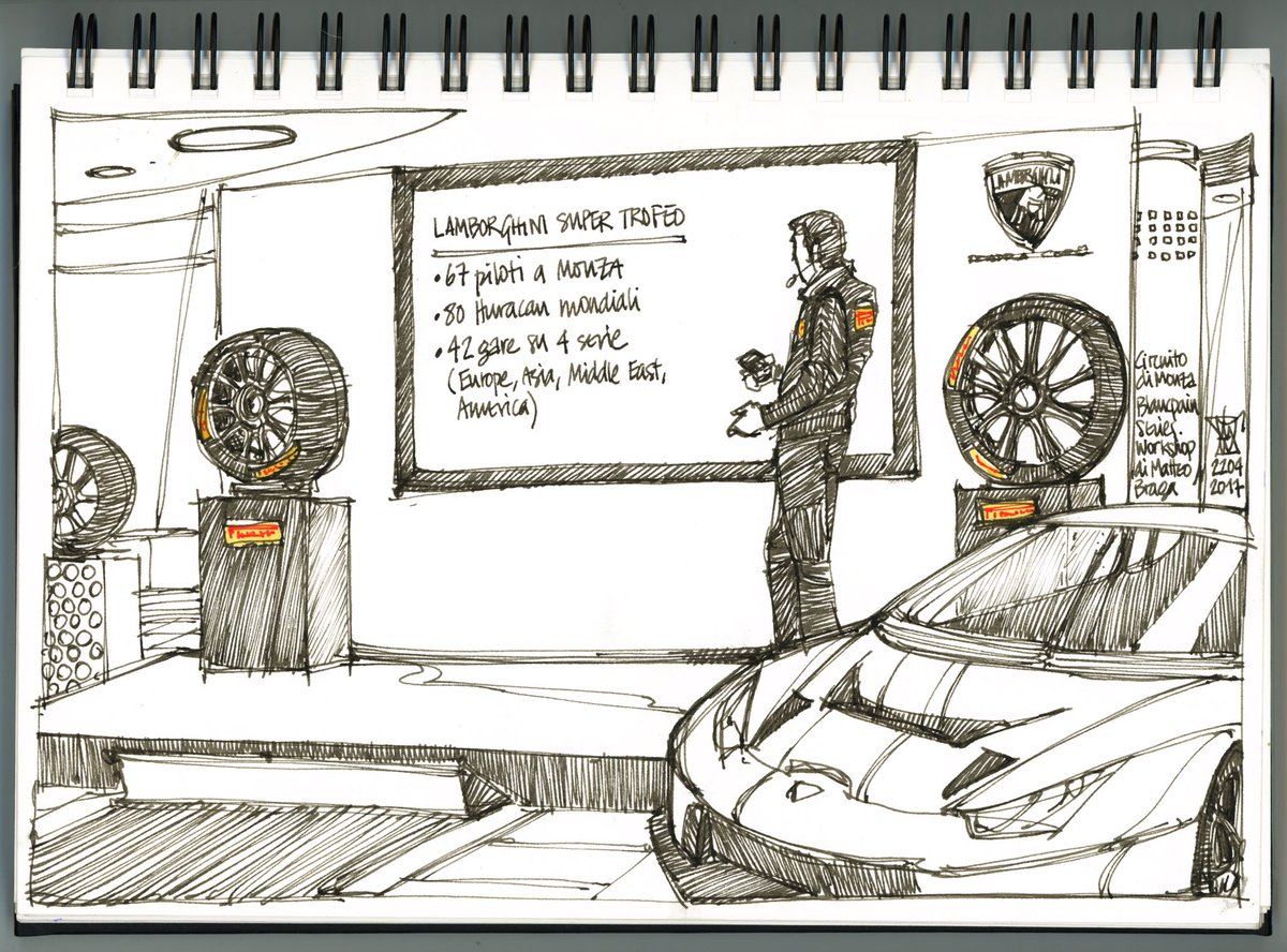 The life on the circuit drawn by #Freekhand aka #MiguelHerranz    #Fit4GT