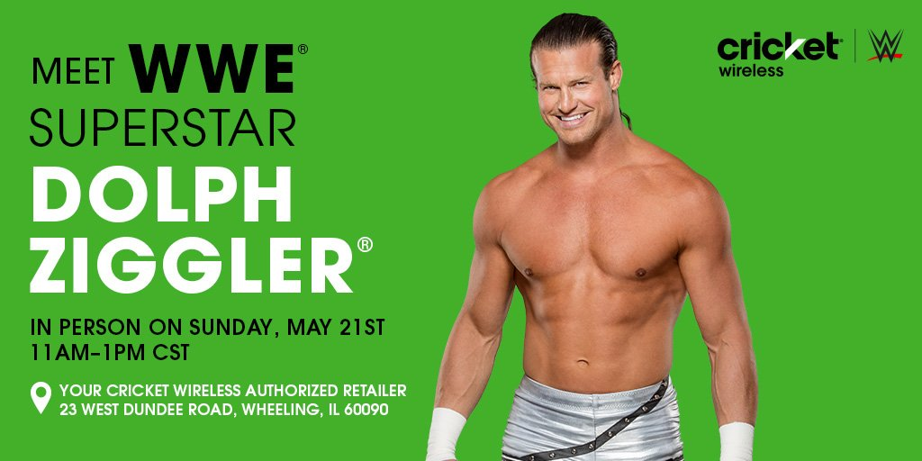 Cricket wireless on twitter wwe fansvisit us in chicago to wwe fansvisit us in chicago to meet heelziggler on sunday may 21 httpmycrkwweeventchicago picittertxofcooajn m4hsunfo
