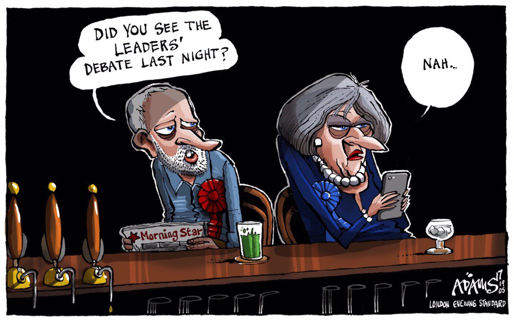 Image result for may and Corbyn debating cartoons