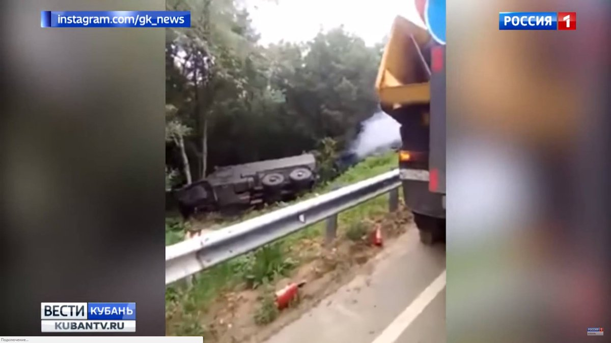 Two new Typhoon-U armored vehicles involved in a crash in Russia. One of them caught fire