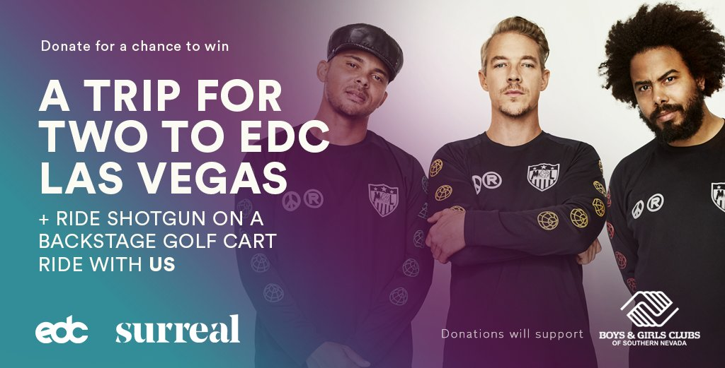 RIDE SHOTGUN WITH US AT @EDC_LASVEGAS DONATE NOW FOR A CHANCE TO WIN & HELP A GOOD CAUSE