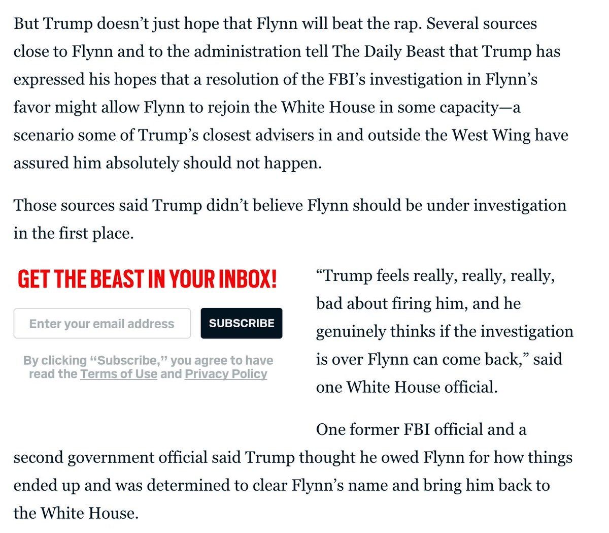 DAIcyoKXsAEmnk1 #TrumpRussia ... Flynn may be a mole but Trump wants him on his lip or in his belly